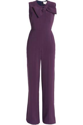ROKSANDA Bow-embellished cady jumpsuit