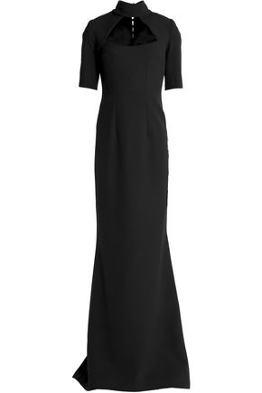 SAFIYAA Cutout fluted crepe gown