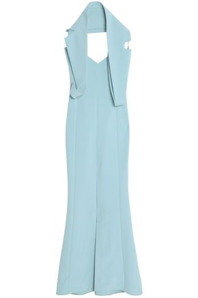 SAFIYAA Fluted crepe gown