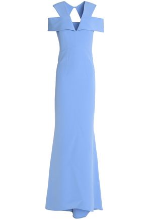 SAFIYAA Cold-shoulder cutout cady gown
