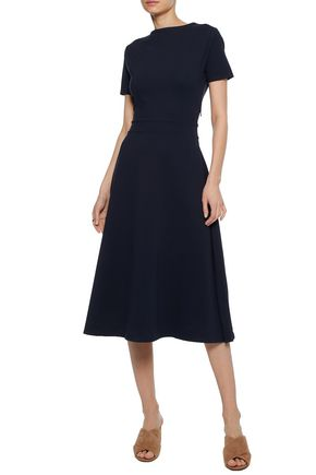 Ink print shirt maxi dress