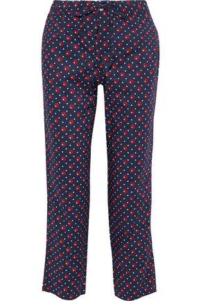 SLEEPY JONES Printed cotton pajama pants