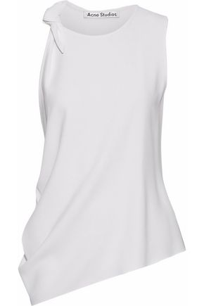 ACNE STUDIOS Bow-detailed stretch-crepe top