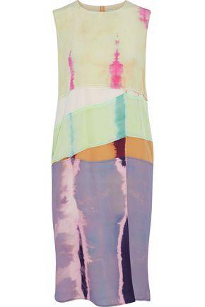 ACNE STUDIOS Paneled printed silk-crepe dress