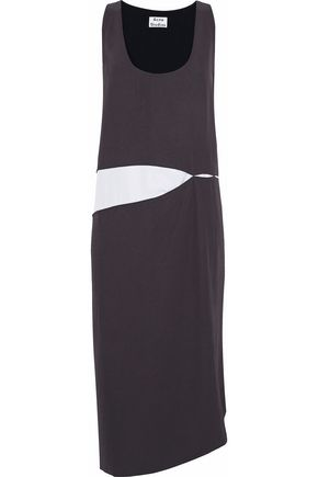 ACNE STUDIOS Paneled poplin and twill midi dress