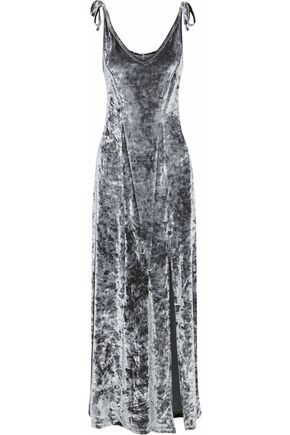W118 by WALTER BAKER Bow-detailed crushed velvet gown