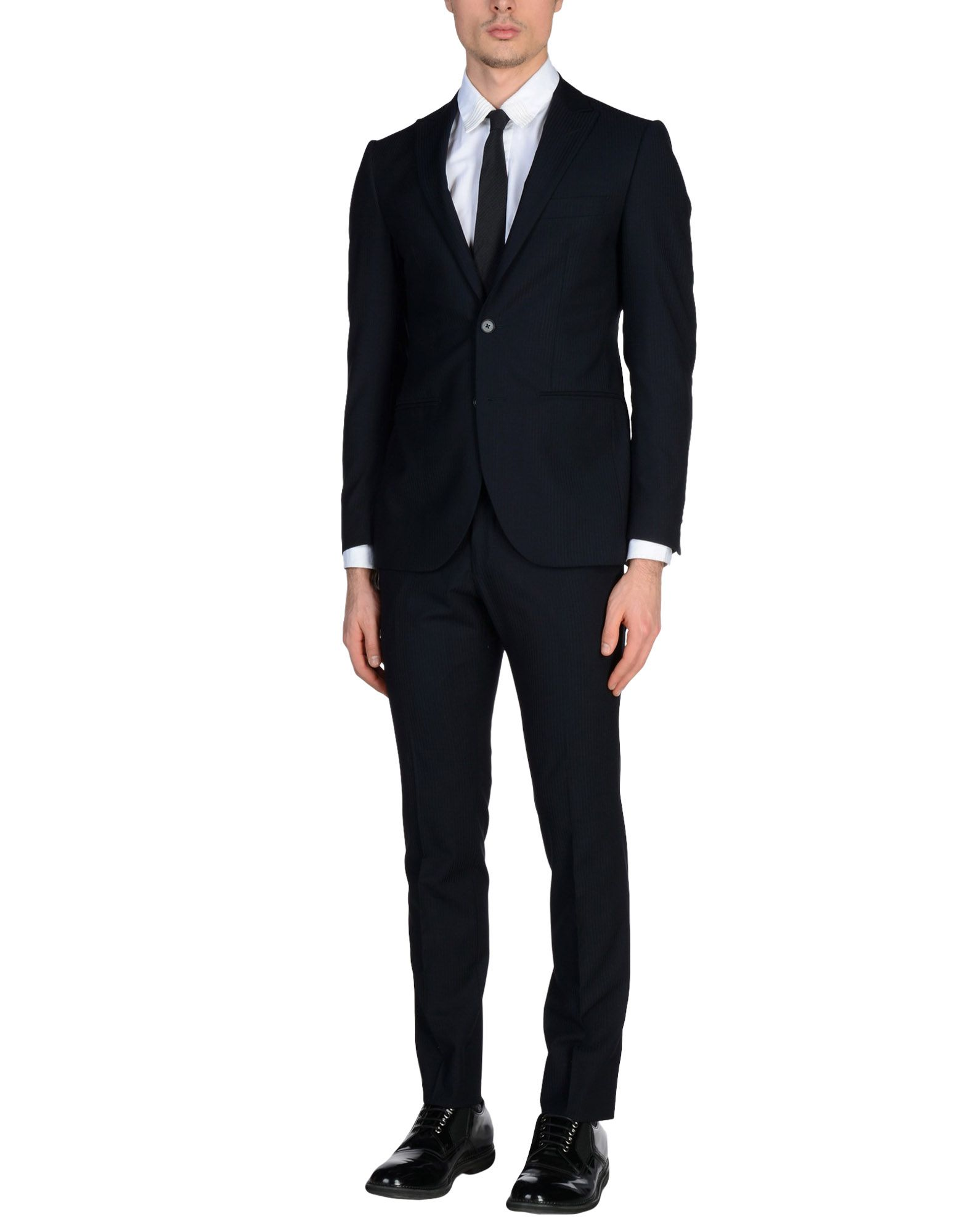 《送料無料》LUBIAM メンズ スーツ ダークブルー 46 バージンウール 100%