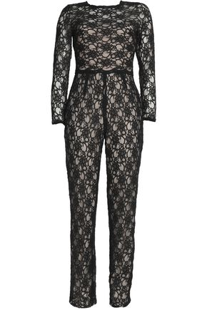 MIKAEL AGHAL Corded lace jumpsuit