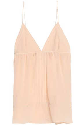 CHLOÉ Gathered silk crepe de chine camisole