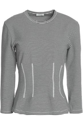 TOTÊME Striped cotton-blend jersey top