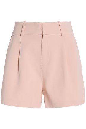 TOTÊME Pleated crepe shorts