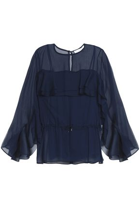 SEE BY CHLOÉ Fluted georgette blouse