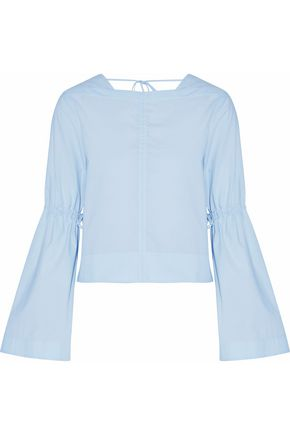 DEREK LAM 10 CROSBY Paneled cotton-poplin top