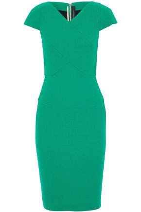 ROLAND MOURET Wool-crepe dress