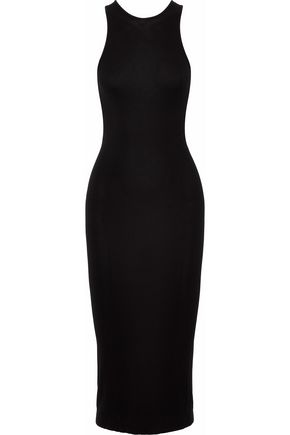 ENZA COSTA Stretch-knit midi dress