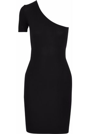 ENZA COSTA One-shoulder stretch-jersey mini dress