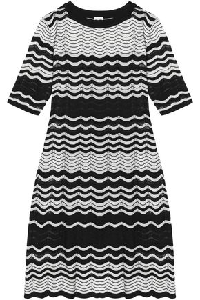 M MISSONI Pointelle-trimmed knitted mini dress