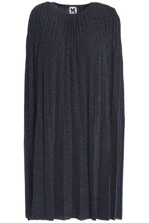 M MISSONI Pleated metallic knitted mini dress