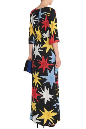 ALICE+OLIVIA Gathered printed crepe gown