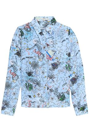 ALICE + OLIVIA Printed silk shirt