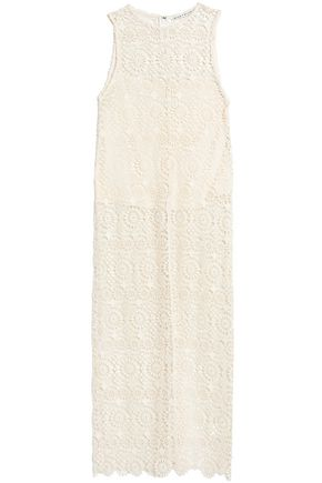 ALICE + OLIVIA Split-front guipure lace top
