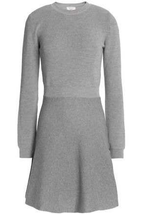 MAISON KITSUNÉ Fluted wool-blend mini dress