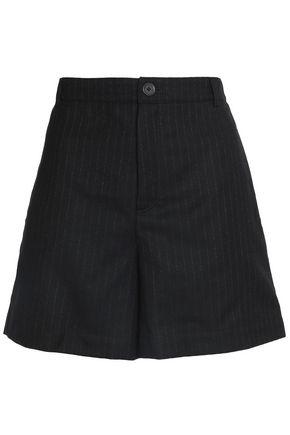 MAISON KITSUNÉ Pinstriped wool-blend twill shorts