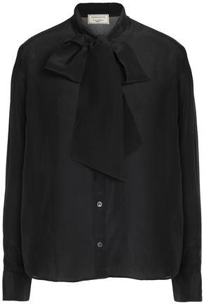 MAISON KITSUNÉ Pussy-bow chiffon blouse