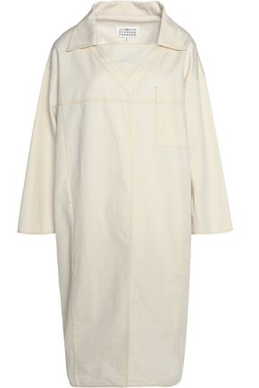 MAISON MARGIELA Cotton and linen-blend twill dress