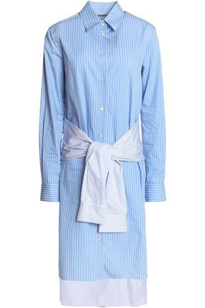 MAISON MARGIELA Layered striped cotton-poplin shirt dress