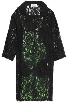 MAISON MARGIELA Frayed cotton-blend corded lace dress
