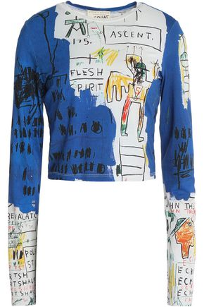 ALICE + OLIVIA Printed jersey top