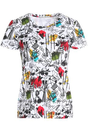 ALICE + OLIVIA Printed cotton T-shirt