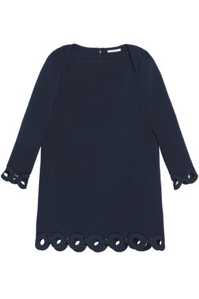 CARVEN Laser-cut crepe mini dress