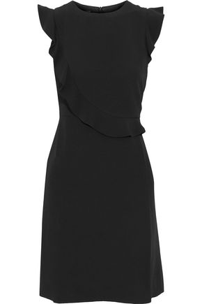 IRIS AND INK Nina ruffle-trimmed crepe de chine dress