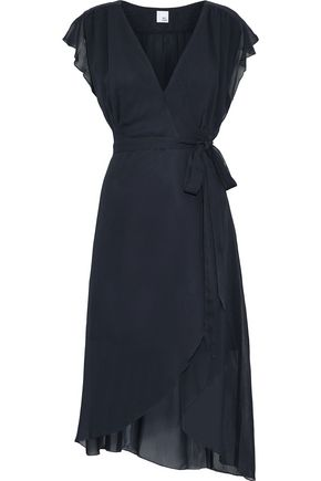 IRIS & INK Wren ruffled chiffon wrap dress
