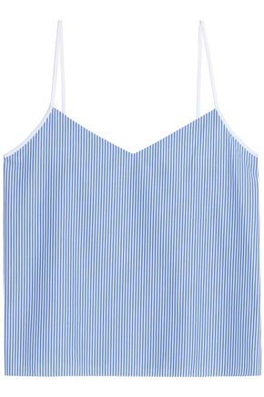 CARVEN Striped cotton-poplin top