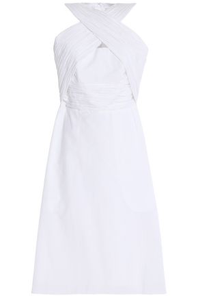 CARVEN Crossover taffeta dress