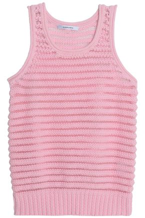 CARVEN Crochet-knit cotton-blend top