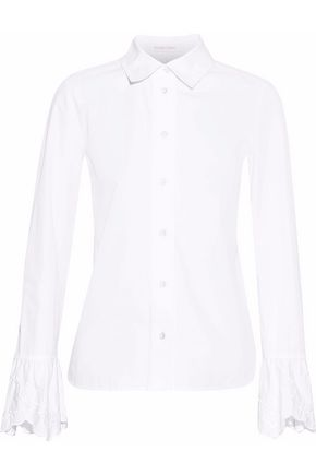 SEE BY CHLOÉ Embroidered cotton-poplin shirt