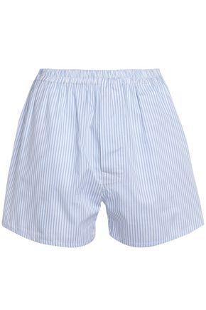 MAISON MARGIELA Striped cotton-poplin shorts