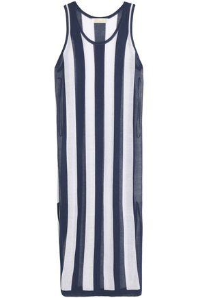 DIANE VON FURSTENBERG Two-tone striped jersey maxi dress