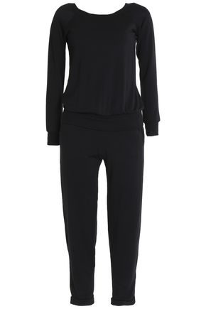 BAILEY 44 Cropped mélange stretch-modal jersey jumpsuit