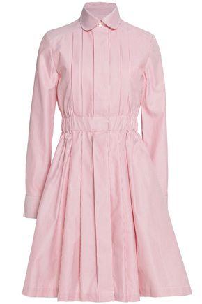 MAISON KITSUNÉ Striped woven cotton dress