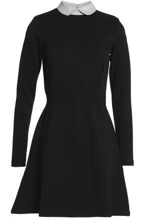 MAISON KITSUNÉ Two-tone stretch-jersey mini dress
