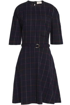 MAISON KITSUNÉ Belted printed flannel dress