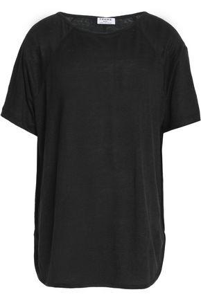 FRAME Linen--jersey T-shirt
