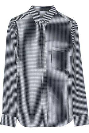 IRIS & INK Aleks striped sateen shirt