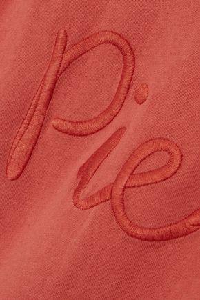 PIERRE BALMAIN Embroidered cotton-jersey tank