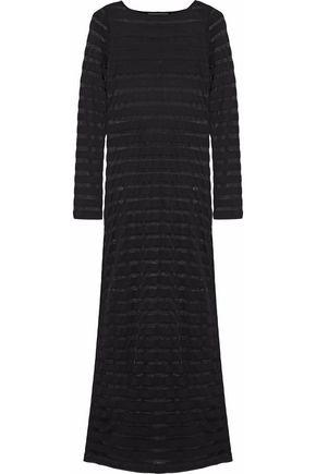 MARA HOFFMAN Striped open-knit maxi dress